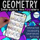 Geometry Activity Interactive VocAPPulary™ - Math Vocabula