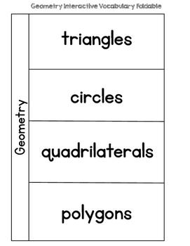 Geometry {Interactive Vocabulary Sort}