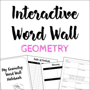 Geometry Interactive Word Wall with Notebook (120+ words!)