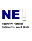 Geometry Interactive Word Wall with Pictorial Word Wall Words