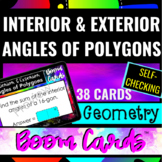 Geometry Interior & Exterior Angles of Polygons DIGITAL SELFCHECKING BOOM CARDS™