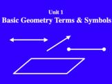 Unit 1 Lesson 1: Points, Lines, and Planes