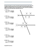Geometry: Introductory Proofs about Angles formed by Transveral