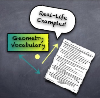 Geometry Introductory Vocabulary with Real-World Connections