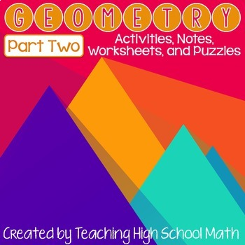 Geometry Items Bundle - Part Two (Right Triangles, Circles