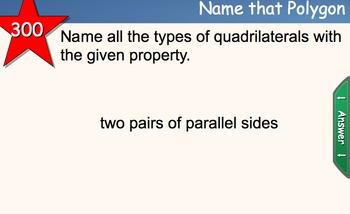 Geometry Jeopardy For Smart Board