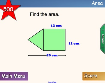 Geometry Jeopardy For Smart Board Area/Volume