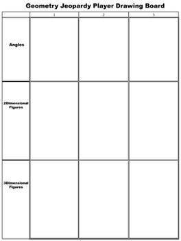 Geometry Jeopardy Free Player Drawing Card