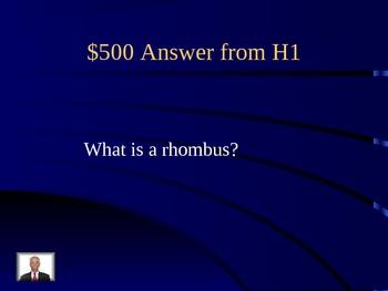 Geometry Jeopardy Game - Powerpoint