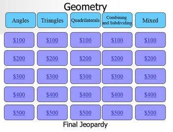 Geometry Jeopardy Review