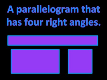 Geometry Jeopardy (Third Grade)