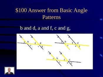Geometry Jeopardy-style Power Point