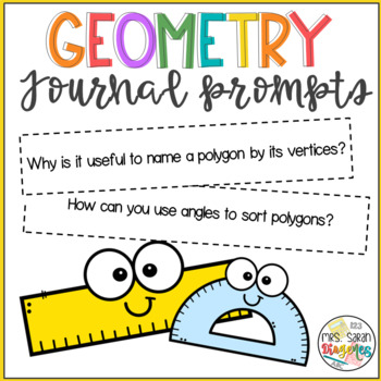Geometry Journal Prompts 5th grade FREEBIE