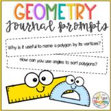 Geometry Journal Prompts 5th grade FREEBIE