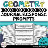 Geometry Math Journal Prompts 5th Grade