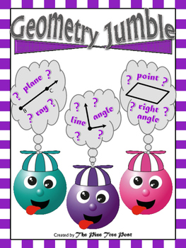 Geometry Jumble (A Cut & Paste Activity with Basic Geometry Terms)