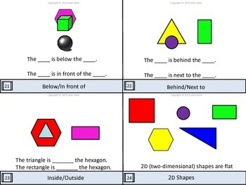 Geometry Kindergarten Flip Cards (Concept and Task Cards)
