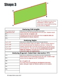Geometry Lab - Properties of Parallelograms - Detailed Lab with Key