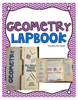 Geometry Lapbook (Quadrilaterals, Angles, Lines, Polygons)