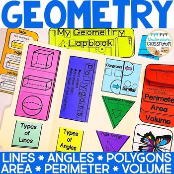 Geometry Lapbook Interactive Kit   Geometry Activity