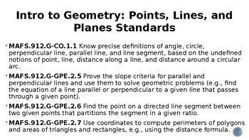 Geometry Learning Goals and Scales