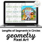 Geometry Lengths of Segments in Circles Pixel Art