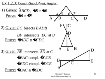 Geometry Lesson 10: Angle Theorems (Day 2)