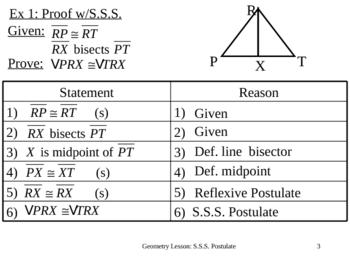 Geometry Lesson 13: SSS Postulate