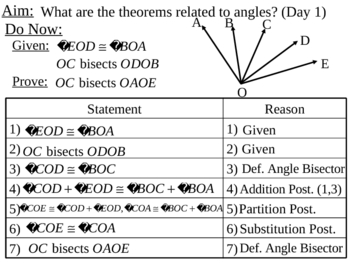 Geometry Lesson 9: Angle Theorems (Day1)