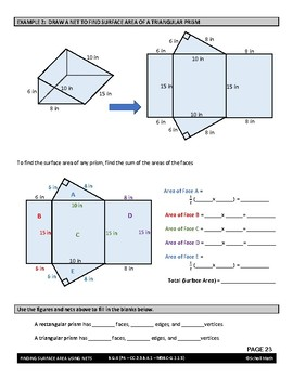 Geometry Lesson: Finding the Surface Area Using Nets