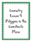 Geometry Lesson: Polygons in the Coordinate Plane
