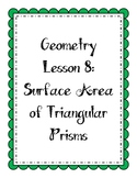 Geometry Lesson: Surface Area of Triangular Prisms
