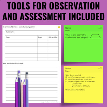 Geometry Lessons for Guided Math - Differentiated (EARLY RELEASE)
