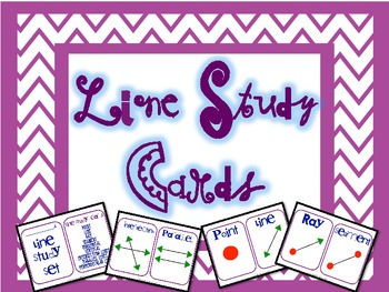 Geometry Line Study Cards and Activity, Types of Lines