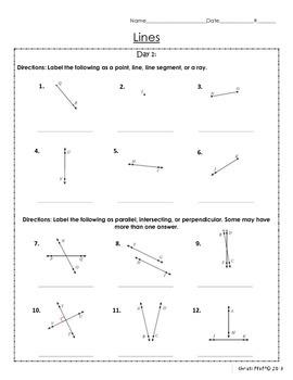 Geometry: Lines & Angles