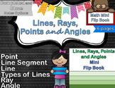 Geometry - Lines Foldable & Mini Flip Book (Ray, Angle, Segment, Point)
