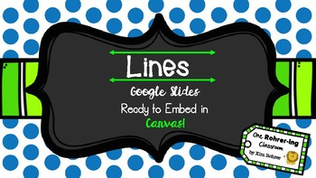 Geometry Lines: Google Slides to Embed in Canvas
