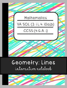 Geometry: Lines Interactive Notebook and Posters