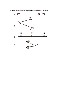 Math VA SOL 4th Geometry Lines, Points, Rays, Angles