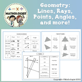 Distance Learning Geometry: Lines Points Rays Angles and More