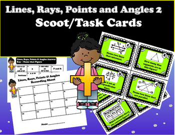Geometry - Lines, Rays, Points, and Angles 2 Geometry Figures Task Cards