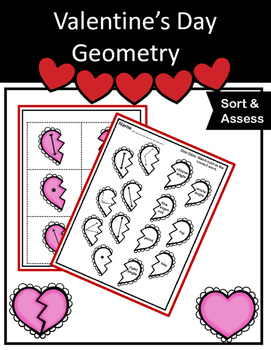Geometry - Lines, Rays, Points, and Angles Geometry Valentine's Sort
