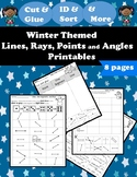 Geometry - Lines, Rays, Points, and Angles Geometry Figures Printables (Winter)
