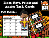 Geometry - Lines, Rays, Points, and Angles Task Cards (Fall Edition)