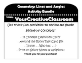 Geometry Lines and Angles - Activity Bundle