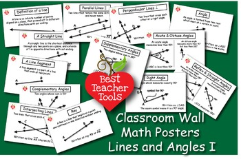 Geometry Posters, Math Concept Posters, Lines & Angles Wall Posters, AMB-2000