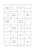 Geometry - Lines and Angles Memeory Game 1 - (models) math