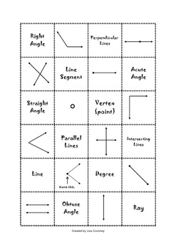 geometry lines and angles memeory game 1 models math tpt. Black Bedroom Furniture Sets. Home Design Ideas
