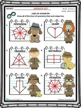 Geometry:  Lines of Symmetry