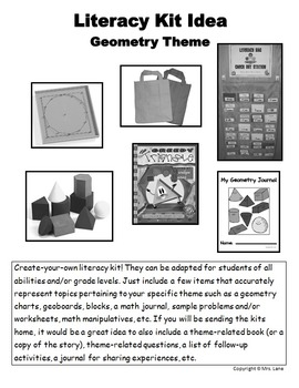 Geometry Literacy Kit Idea